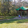 In 2001, arrangements were made for an authentic Chinese pagoda to be built in China and shipped to Michigan.  The Larson's donated it to the city and it was constructed on the River Walk along the Kalamazoo River near Marshall's Utility Services building (seen in the tree pictures).