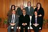 IMG_8470 STANDING-Linda Harris, Sharon Wagman, Gary Weiner, Kim Beame SITTING-Rabbi Robert A  Silvers, Deepak Chopra, Rabbi Marci R   Bloch
