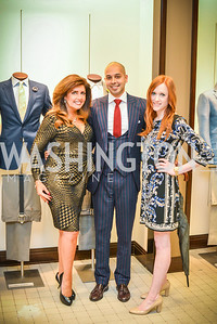 Beth Webster, Sim Khan, Katie Rudis, Men of Substance and Style, Saks Fifth Avenue, Tysons Galleria, Vincent De Paul,. Saturday March 29, 2014.  Photo by Ben Droz .