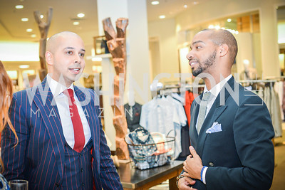 Sim Khan, Kevin Gray,  Men of Substance and Style, Saks Fifth Avenue, Tysons Galleria, Vincent De Paul,. Saturday March 29, 2014.  Photo by Ben Droz .