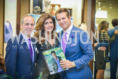 Lawrence Behar, Beth Webster, Vincent De Paul, Men of Substance and Style, Saks Fifth Avenue, Tysons Galleria, Vincent De Paul,. Saturday March 29, 2014.  Photo by Ben Droz .