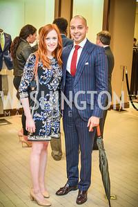 Katie Rudis, Sim Khan, Men of Substance and Style, Saks Fifth Avenue, Tysons Galleria, Vincent De Paul,. Saturday March 29, 2014.  Photo by Ben Droz .