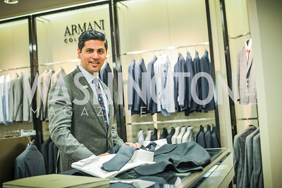 Shahid Malik, Armani, Men of Substance and Style, Saks Fifth Avenue, Tysons Galleria, Vincent De Paul,. Saturday March 29, 2014.  Photo by Ben Droz .