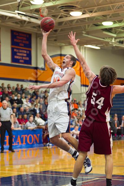 Wheaton College Men's Basketball vs North Central College (67-79), January 29, 2011