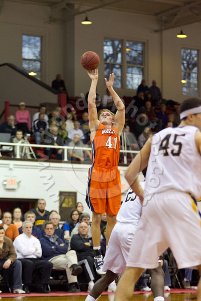 Wheaton College Men's Basketball vs Augustana (58-73), CCIW Tournament Semi-Finals at North Central College, February 25, 2011