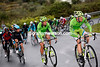 Alessandro Di Marchi starts to accelerate on behalf of Sagan...