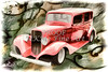 Painting 1933 Chevrolet Chevy Sedan Classic Car in Color  3161.02