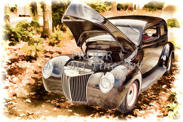 1939 Ford Sedan Antique Classic Car Painting 3417.02