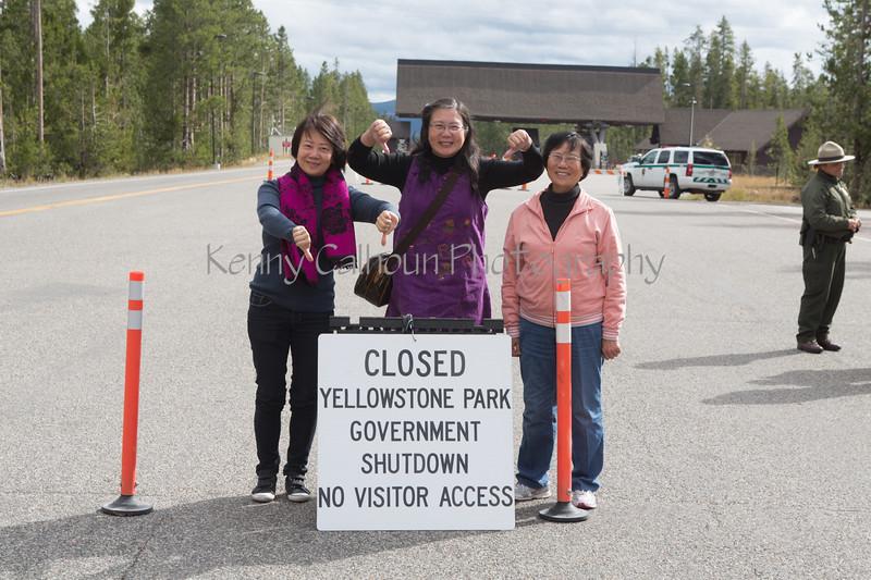 Yellowstone Main Gate Closed _N5A6037