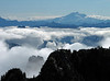 View east on Glacier Peak from the summit ridge.