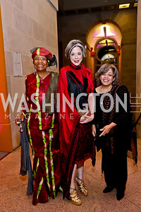 Paula Coleman, Heather Podesta, Viola Capitol Jefferson. Photo by Tony Powell. Nat'l. Museum of African Art's 50th Anniversary Gala. November 7, 2014