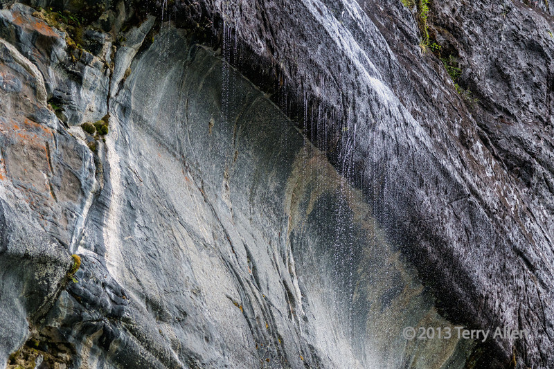 """Snow melt trickling down a granite cliff.  The individual droplets can be best appreciated at the largest size.<br /> <br /> Other photos of the granite cliff and the reflections can be seen here, as well as more shots of water rivulets running down the cliff: <a href=""""http://goo.gl/YSFGGc"""">http://goo.gl/YSFGGc</a><br /> <br /> Update:  I just took my photo for 'O' day...but did I manage to stay with garden images??  Stay tuned; are you ready with your shots, too?<br /> <br /> 19/10/13  <a href=""""http://www.allenfotowild.com"""">http://www.allenfotowild.com</a>"""