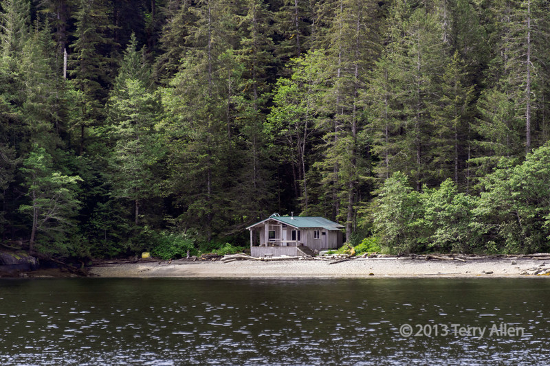 Tsimshian watchkeepers' cabin, Mussel Inlet, mid-coast British Columbia<br /> <br /> This is a very isolated cabin, with no other structures for miles in any direction.
