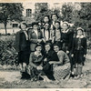 1952, 9th grade - my mom is the one with long pig tails in the middle; Leontina is on her eft