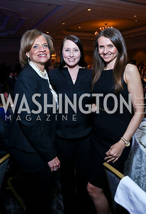 Susan Cannaday, Heather Guay, Jana Sedlakova. Photo by Tony Powell. N Street Village 40th anniversary Gala. Ritz Carlton. April 9, 2014