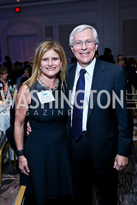 Melissa Maxfield, Decker Anstrom. Photo by Tony Powell. N Street Village 40th anniversary Gala. Ritz Carlton. April 9, 2014
