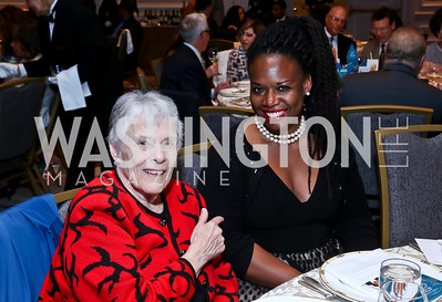 Elaine Zakarison, Deneen Brown. Photo by Tony Powell. N Street Village 40th anniversary Gala. Ritz Carlton. April 9, 2014