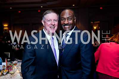 Doug Wheeler, Reginald Van Lee. Photo by Tony Powell. N Street Village 40th anniversary Gala. Ritz Carlton. April 9, 2014