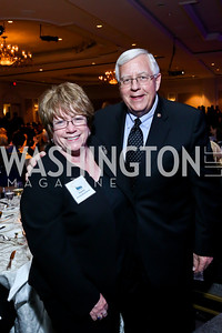 Diana Enzi and Sen. Mike Enzi. Photo by Tony Powell. N Street Village 40th anniversary Gala. Ritz Carlton. April 9, 2014