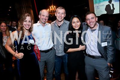 Rachel Laser, Mark Davies, Matt Hollamby, Mei-Wah Lee, Adam Lioz. Photo by Tony Powell. DC Men for Choice happy hour. Capitale. September 30, 2014