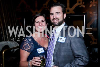 Erica Payne Haigh and Gene Haigh. Photo by Tony Powell. DC Men for Choice happy hour. Capitale. September 30, 2014