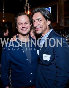James Alefantis, Septime Webre. Photo by Tony Powell. DC Men for Choice happy hour. Capitale. September 30, 2014