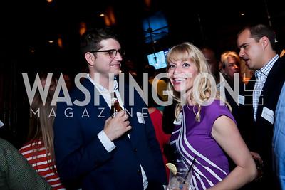 Yuri Beckelman, Leslie McGorman. Photo by Tony Powell. DC Men for Choice happy hour. Capitale. September 30, 2014