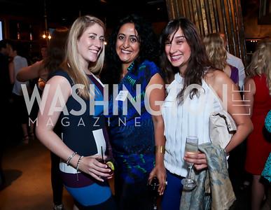 Lauren Rule, Roshanak Ameli-Tehrani, Haya Al-Hossain. Photo by Tony Powell. DC Men for Choice happy hour. Capitale. September 30, 2014