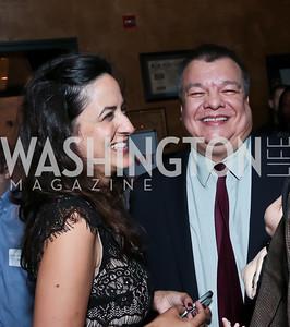 Sasha Bruce and Luis Navarro. Photo by Tony Powell. DC Men for Choice happy hour. Capitale. September 30, 2014
