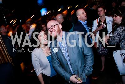 Molly Haigh, Sean Carlson. Photo by Tony Powell. DC Men for Choice happy hour. Capitale. September 30, 2014