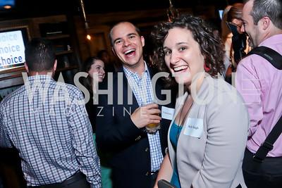 Neil Sroka, Molly Haigh. Photo by Tony Powell. DC Men for Choice happy hour. Capitale. September 30, 2014