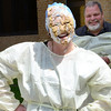 Kevin Harvison | Staff photo <br /> Tiffany Roberts with the McAlester Regional Hospital Human Resource department smiles after being pied during a Hospital Foundation fundraiser Friday.