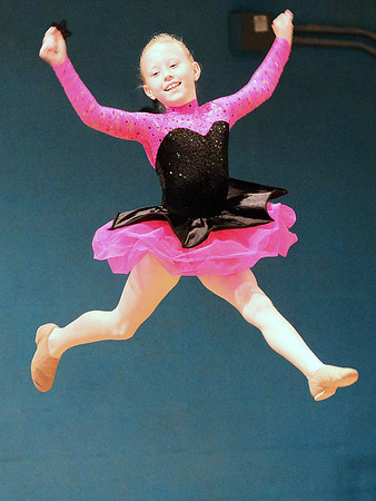 Kevin Harvison | Staff photo <br /> Emerson Elementary student Tenley Waller performs a dance routine during the schools talent show.