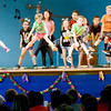 Staff photo by Kevin Harvison |<br /> Students perform a dance during the Emerson Elementary school student talent show.