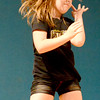 Staff photo by Kevin Harvison |<br /> Emerson Elentary student Maylynn Henry performs a dance routine during the school's talent show.