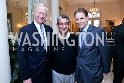 Jack Evans, Ted Leonsis, Russ Ramsey. Photo by Tony Powell. Nantucket Film Festival cocktails and conversation. Leonsis residence. April 3, 2014