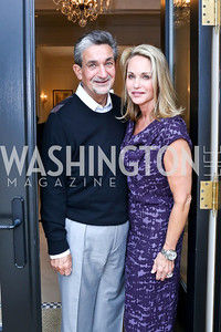 Ted and Lynn Leonsis. Photo by Tony Powell. Nantucket Film Festival cocktails and conversation. Leonsis residence. April 3, 2014
