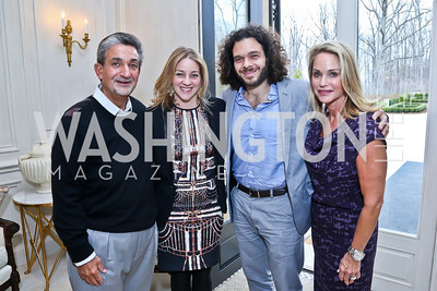 Ted Leonsis, Andrea and Sean Fine, Lynn Leonsis. Photo by Tony Powell. Nantucket Film Festival cocktails and conversation. Leonsis residence. April 3, 2014
