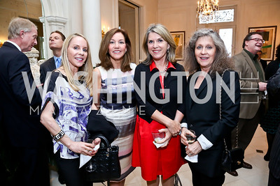 Cindy Jones, Michele Seiver, Kathleen Matthews, Elizabeth Galvin. Photo by Tony Powell. Nantucket Film Festival cocktails and conversation. Leonsis residence. April 3, 2014