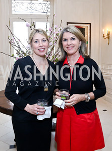 Nantucket Film Festival Exec. Dir. Mystelle Brabbee, Board chair Kathleen Matthews. Photo by Tony Powell. Nantucket Film Festival cocktails and conversation. Leonsis residence. April 3, 2014