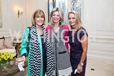 Ginny Grenham, Kay Kendall, Lynn Leonsis. Photo by Tony Powell. Nantucket Film Festival cocktails and conversation. Leonsis residence. April 3, 2014