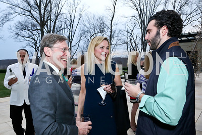 Paul Frazer, Christine Rales, Alexander Rales. Photo by Tony Powell. Nantucket Film Festival cocktails and conversation. Leonsis residence. April 3, 2014