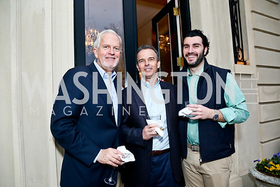 Jack Davies, Evan Jones, Alexander Rales. Photo by Tony Powell. Nantucket Film Festival cocktails and conversation. Leonsis residence. April 3, 2014