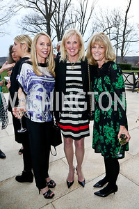 Cindy Jones, Laurie Monahan, Alison Paley. Photo by Tony Powell. Nantucket Film Festival cocktails and conversation. Leonsis residence. April 3, 2014