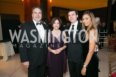 Lonnie Gaddy, Pam Gaddy, Dan Gaddy, Millissa Bassant. Photo by Alfredo Flores. National Museum of Catholic Art and Library's 3rd Annual Roman Gala La Primavera. Embassy of Italy. April 2, 2014