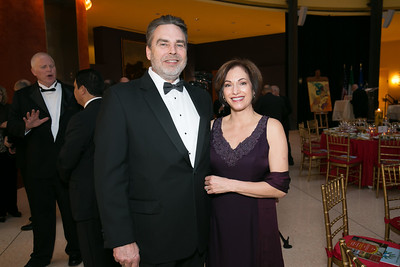 Lonnie Gaddy, Pam Gaddy. Photo by Alfredo Flores. National Museum of Catholic Art and Library's 3rd Annual Roman Gala La Primavera. Embassy of Italy. April 2, 2014