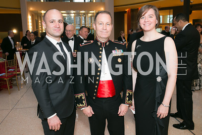 Ryan Romito, Col. Greg Masiello, Beth Halpern. Photo by Alfredo Flores. National Museum of Catholic Art and Library's 3rd Annual Roman Gala La Primavera. Embassy of Italy. April 2, 2014