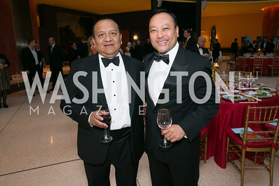 Joe Travez, George Cabala. Photo by Alfredo Flores. National Museum of Catholic Art and Library's 3rd Annual Roman Gala La Primavera. Embassy of Italy. April 2, 2014