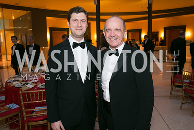 Franco Impala, Renato Miracco. Photo by Alfredo Flores. National Museum of Catholic Art and Library's 3rd Annual Roman Gala La Primavera. Embassy of Italy. April 2, 2014