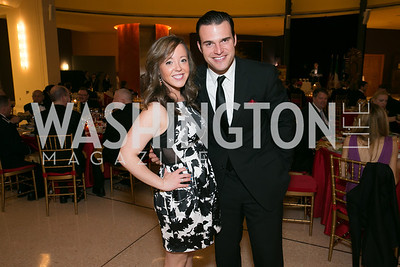 Kelly Ann Caulfield, Brian Jarosinski. Photo by Alfredo Flores. National Museum of Catholic Art and Library's 3rd Annual Roman Gala La Primavera. Embassy of Italy. April 2, 2014